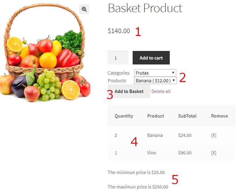 basket product woocommerce