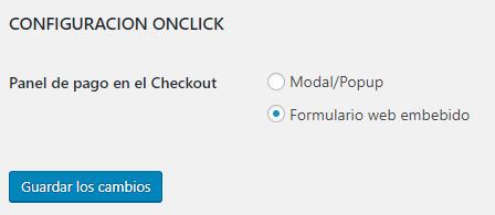configuracion de pago con un click