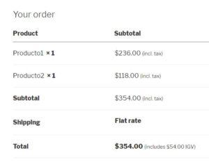 order woocommerce tax