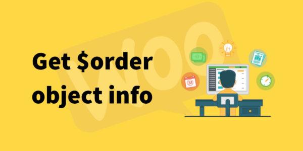 Obtener información de pedidos desde el objeto $order